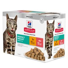 Hill's Science Plan Feline Perfect Weight Pollo & Salmone Multipack (Bustina)